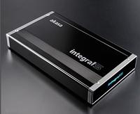 Akasa integral, s series, usb 3.0 superspeed 3.5 sata hdd black gloss aluminium enclosure