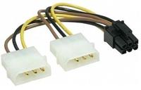 Gembird Interne voedingskabel voor PCI express, 2x molex naar 6 pins PCI-Express voor VGA kaarten, *MOLEXM, *PCIF