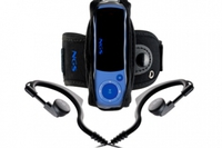 NGS 4gb mp3 player. earhooks,neck strap & armband included