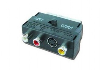Gembird CCV-4415 Adapter SCART plug to 3 RCA jacks and 1 S-Video jack with switch, *RCAF, *SCARTM