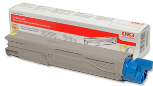 Oki c3300, c3400, c3450, c3600 tonercartridge geel high capacity 2.500 pagina s