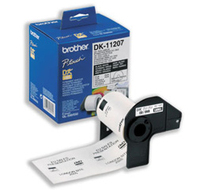 Brother p-touch dk-11207 die-cut cd / dvd label (film) diameter 58mm 100 labels