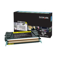 Lexmark x748 tonercartridge geel corporate
