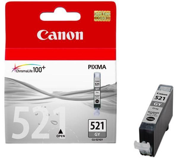Canon cli-521g inktcartridge grijs standard capacity 9ml 1.370 pagina s 1-pack