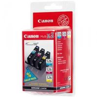 Canon cli-526 c/m/y inktcartridge cyaan, magenta en geel combopack