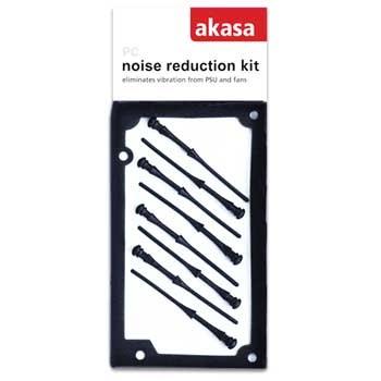 Akasa PSU and fan noise reduction kit 1*silicone PSU gasket + 8 * rubber pins