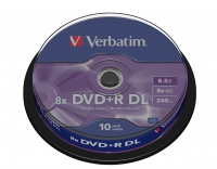 Verbatim dual layer dvd+r 240 min. / 9.4gb 8x 10-pack spindel scratch resistant surface