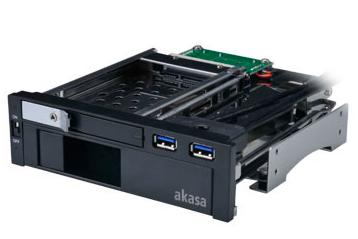 Akasa lokstor m51, tool free 2.5 & 3.5 sata hdd dock in 5.25 pc bay with usb 3.0 pass through ports