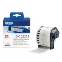 Brother p-touch dk-continue lengte tape: 50mm - thermisch papier - wit (30.48m)
