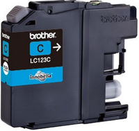 Brother lc-123 inktcartridge cyaan standard capacity 600 pages