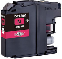 Brother lc-123 inktcartridge magenta standard capacity 600 pages