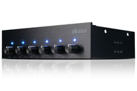 Akasa 5.25 akasa fc six fan control for 6 fans down to zero rpm, 20w per channel, brushed ali panel