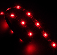 Akasa Vegas LED strip light, 50cm, Red