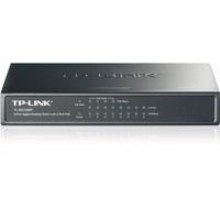 TP-Link TL-SG1008P 8-Port Gigabit Desktop PoE Switch, 8 x GBit LAN waavan 4 x POE