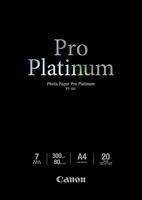 Canon pt-101 pro platinum photo paper inktjet 300g/m2 a4 20 sheets pack