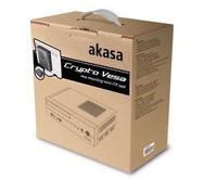 Akasa Crypto, Stylish Media Mini ITX Case, VESA Edition with 80W external AC adapter