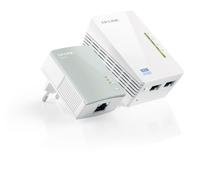 TP-LINK TL-WPA4220KIT PowerLine-netwerkadapter, 1x Powerline-Lan, 1x Powerline naar 2x LAN en WiFi
