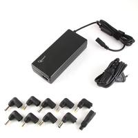 Gembird Universele notebookadapter, 90 W, 10 tips, 15V/16V/18V/19V/19.5/20V DC at 4.5 A max