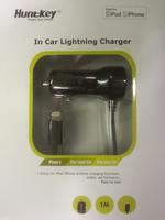 Huntkey iphone 5 car charger, 5V/1A, lightning plug - 1m