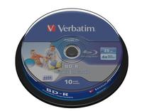 VERBATIM BD-R BLU-RAY 25GB 6X WIDE PRINTABLE CAKE*10 43804, multipack