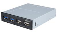 Akasa 3.5 internal 4 port usb panel, 2 x usb3.0 & 2 x usb2.0, USB3 en USB3 internal motherboard connector