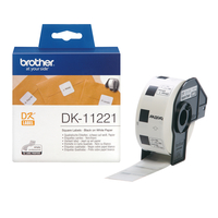 Brother p-touch dk11221 23mm x 23mm permanent adhesive square labels