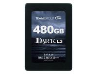 Team SSD Dark L3, 7mm LP, 480 GB, SATA6GBS, Trim, 550/500, 35K/50K IOPS, MLC, Phison Ps3108-S8, Solid State Disk, 2,5 inch