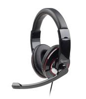 Gembird stereo headset, glossy zwart