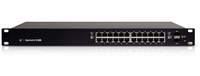 Ubiquiti EdgeSwitch ES-24-500W, Managed 24 port PoE+ (500 Watt) Gigabit switch, 24 Gigabit RJ24 ports, 2 SFP ports, 1 SCP, NBTP 26 GBPS