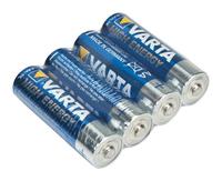 Varta High energy LR6 batterij, AA alkaline blister van 4 batterijen
