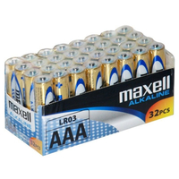 MAXELL BATTERY ALKALINE LR03 AAA 32-PACK, multipack