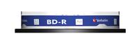 VERBATIM BD-R BLU-RAY 25GB 4X PRINTABLE M-DISC ARCHIVAL CAKE*10 43825, multipack