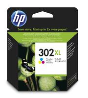 HP 302XL, kleur, voor deskjet 1010, 11xx, 21xx, 36xx envy 45xx officejet 38xx, 46xx