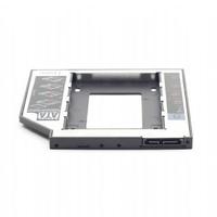 Gembird montageframe voor 2,5HDD of SSD in een laptop 9,5mm SATA slim bay ter vervanging van een ODD station