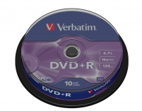 Verbatim dvd+r 120 min. / 4.7gb 16x 10-pack spindel datalife plus, scratch resistant