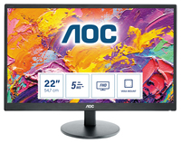 AOC E2270SWDN, 54,6 cm (21.5 inch) LED display, 1920 x 1080 Full HD, 1x VGA, 1x DVI, 100x100 VESA, Zwart