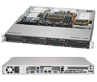 Super Micro Server Barebone SYS-5019S-M, Socket H4, 1U, 4 x DDR4 ECC, 4 x HotSwap SATA, 350 Watt