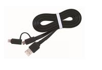 Gembird 2-in1 USB oplaadkabel voor lightning (apple) en micro-USB, zwart, 1 m, *USBAM, *LIGHTNINGM, *MUSBM