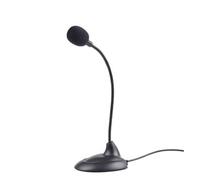 Gembird microfoon op standaard met flexibele nek, zwart
