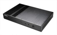 Akasa Galileo T, Fanless Aluminium Slim THIN Mini ITX Case, 2 HP Cooler, VESA Mountable, Serial Support, Front USB