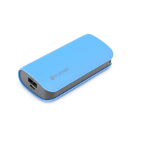 PLATINET POWER BANK LEATHER 5200mAh BLUE + microUSB cable [43409