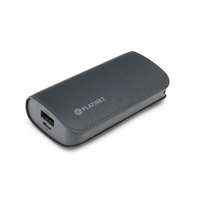 PLATINET POWER BANK LEATHER 5200mAh GREY + microUSB cable [43410