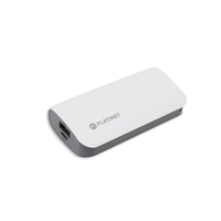 PLATINET POWER BANK LEATHER 5200mAh WHITE + microUSB cable [43411