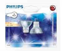 Philips Halogeen reflectorlamp Hal-Dich 4y 20W GU4 12V 30D 2BC/10 2er