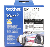 Brother p-touch dk-11204 die-cut multi purpose label 17x54mm 400 labels