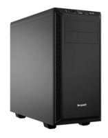 be quiet! Pure Base 600 Black, 492 x 221 x 468, IO-panel 2x USB 3.0, HD Audio, 2x 5,25, 3x 3,5, 2x 2,5, inc 1x 140 mm en 1x 120 mm fan, dual air channel cooling, 3 step fan controller 3x3 pin, Watercooling ready