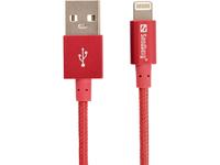 Sandberg Excellence Lightning Red 1m, *USBAM, *LIGHTNINGM