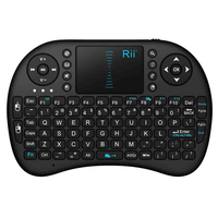Rii i8 Mini Wireless keyboard (2.4G) for Windows, Mac, Linux and Android. Inc. touchpad. USB Dongle, Li-Ion Battery
