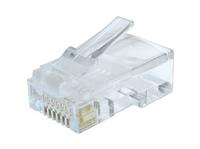 Gembird UTP connector 8-pins 8P8C (RJ45) voor CAT6 Cable Solid, bag 10 pcs, *RJ45M