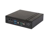 Giada MiniPC barebone VM23 Intel Celeron Quad Core N3450, HD Graphics 550, 4 GB DDR3-L on-board, 32 GB EMMC, 1x mSata, 1x GB Lan, M.2 slot for WiFi, 2 x USB2, 2x USB3, HDMI, DP, Black